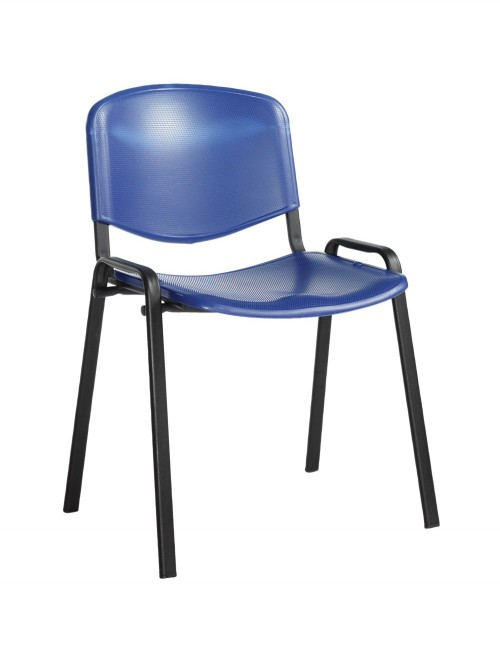 Stacking Chairs Taurus Plastic Blue Reception Chairs TAU40002-PB by Dams
