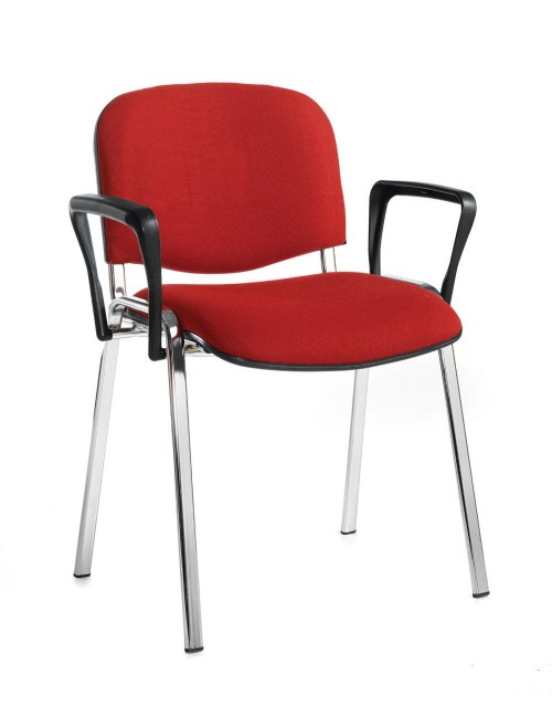 Stacking Chairs Taurus Burgundy Reception Chairs with Arms TAU40006-BU by Dams