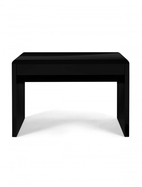 Home Office Desk Black Nordic Home Workstation BDW/F210/BK by Eliza Tinsley