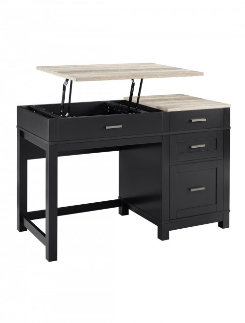 Home Office Desk Black Carver Lift-Top Computer Desk 9257196COMUK by Alphason Dorel