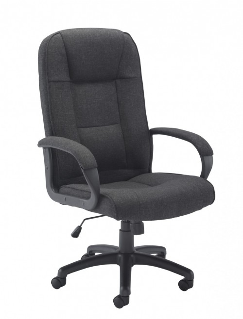 Office Chairs Charcoal Keno Fabric Office Chair CH0137CH by TC
