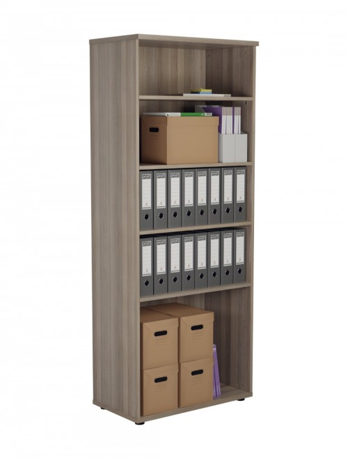 Office Storage 2000mm Tall Office Bookcase Grey Oak WDS2045GO by TC