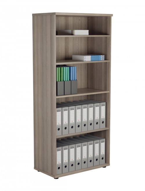 Office Bookcase Grey Oak 1800mm Tall Office Storage Bookcase WDS1845GO by TC