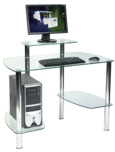 Glacier Computer Desk Workstation