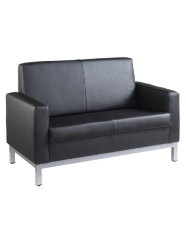 HEL50002 Helsinki Leather Faced Two Seater Reception Chair