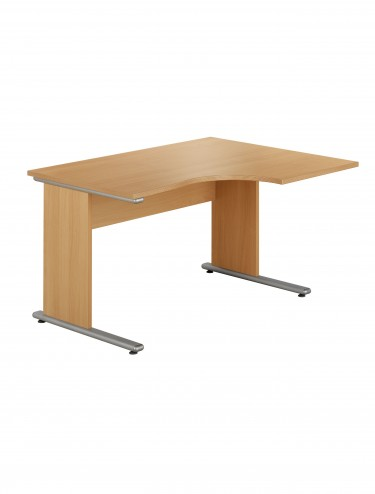 Urban Ergonomic Cantilever Desk 1380mm wide - Right Handed UB1380R