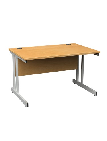 Cantilever Straight Desk - Momento 1200mm wide in MOM12