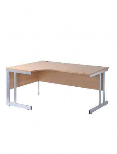 Momento MOM16EL Left Handed Ergonomic Cantilever Desk 1600mm wide