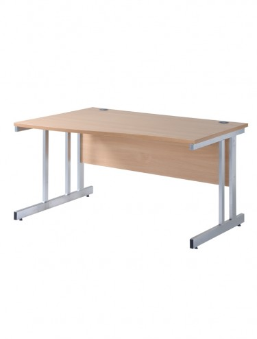 Cantilever Left Handed Wave Desk - Momento 1600mm MOM16WL