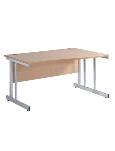 Cantilever Right Handed Wave Desk - Momento 1600mm MOM16WR