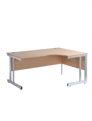 Momento MOM16ER Right Handed Ergonomic Cantilever Desk 1600mm Wide