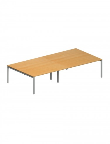 Adapt II Rectangular Bench Boardroom Table EBT2412 2400x1200mm