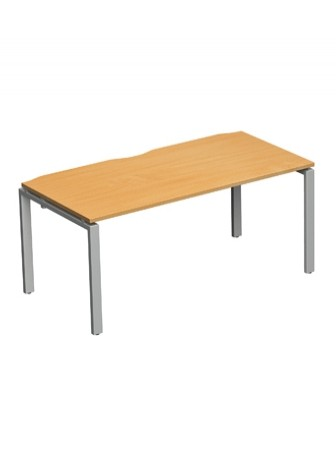 Adapt II Rectangular Bench Office Desk E146 1400x600mm