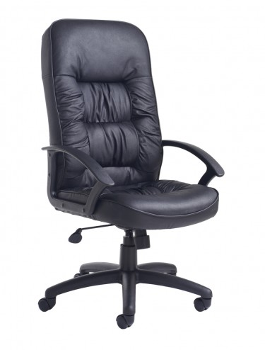 King Leather Faced Managers High Back Chair KNG300T1