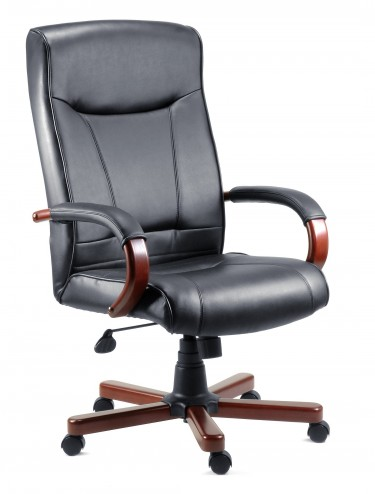 Kingston Executive Leather faced Chair- Dark or Light Wood 8511/2