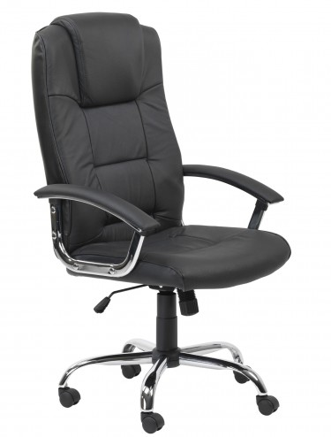 Alphason Houston High Back Leather Faced Executive Chair AOC4201A-L