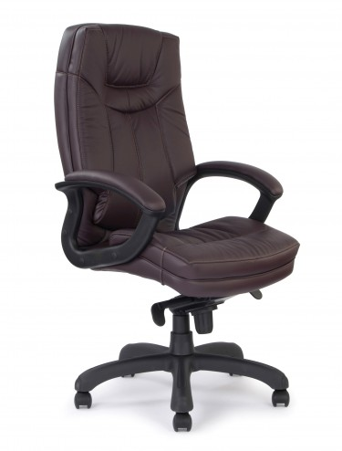 608KTAG Hudson High Back Leather Faced Executive Chair