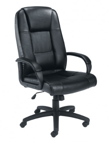 Office Chairs - TC Keno Black Leather Office Chair CH0237