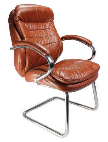 Santiago-C Leather Faced Cantilever Visitors Chair 618AV/L
