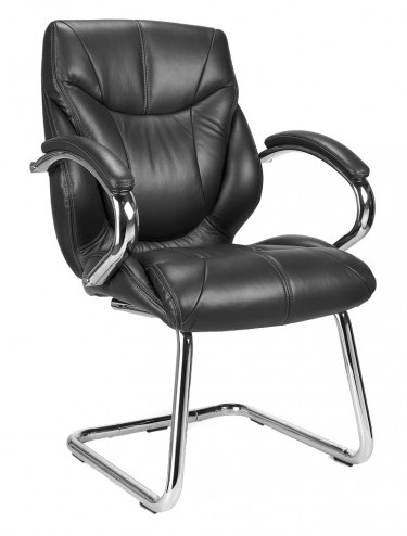 Sandown-C Leather Faced Cantilever Visitors Chair 617AV