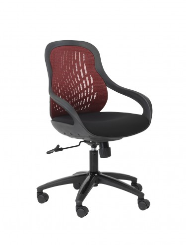 Alphason Croft Red Mesh Back Executive Chair AOC1010-M-R
