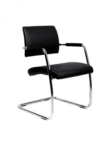 BRU100C1 - 2 Pack Bruges Faux Leather Cantilever Chair - Boardroom/Visitors