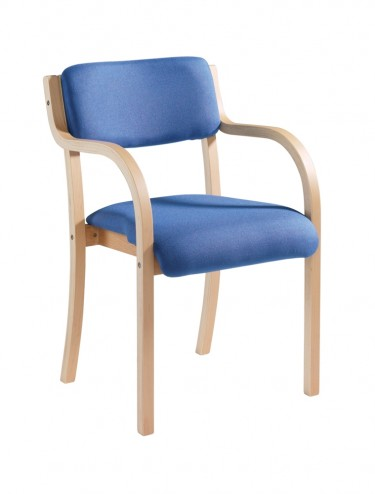 PRA50001 Wood frame Stack Chair - Prague with arms