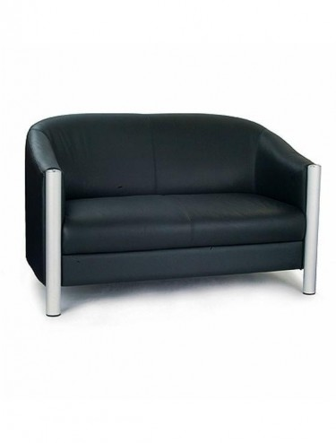 Napa Leather Faced Tub Style Two Seater Sofa 7312/LBK