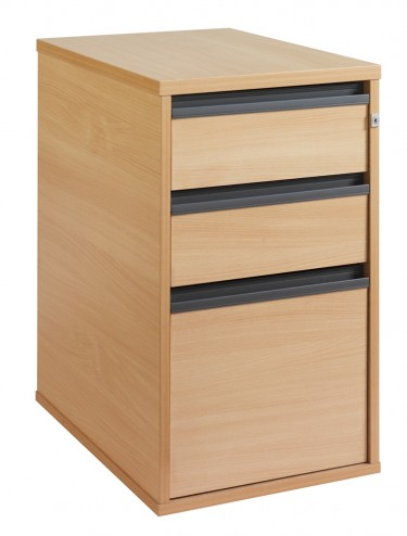 Maestro 3 Drawer Desk High Pedestal DEP3