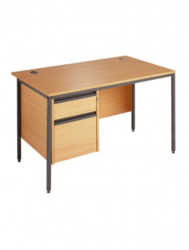 Maestro H4P2 Straight Desk with 2 Drawer Pedestal 1228mm wide