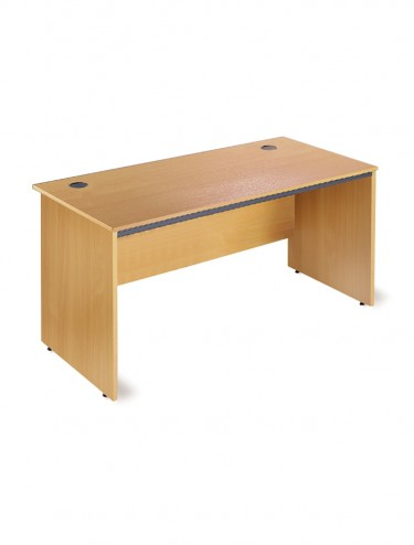 Maestro S3 Straight  desk with panel ends 754mm wide