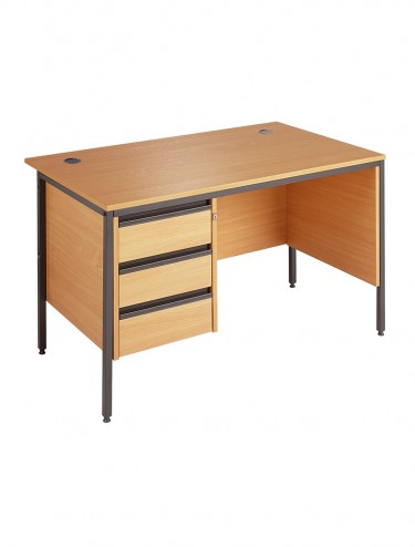 Maestro Straight Desk with 3 Drawer Pedestal H6MP3 1532mm wide