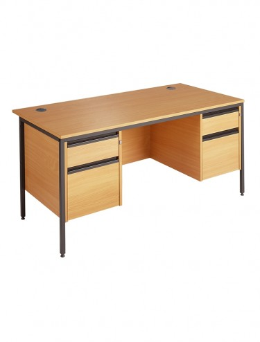 Maestro Straight Desk with 2 x 2 Drawer Pedestal H6P22 1532mm wide