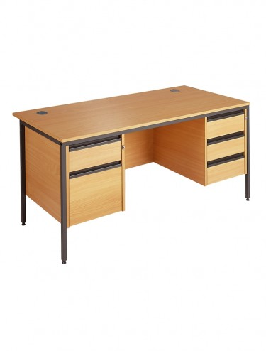Maestro Straight Desk with 2 x 3 Drawer Pedestal H6P23 1532mm wide