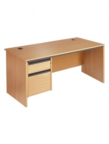 Maestro S7P2 Straight desk w/ panel ends and 2 drawer pedestal 1786mm