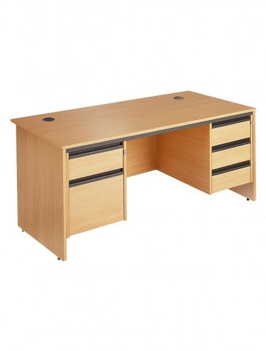 Maestro S7P23 Straight desk with 2 and 3 drawer pedestals 1786mm