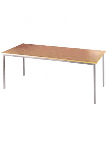 Dams Flexi-Table 800x800mm Rectangular with Silver Frame FLXS8