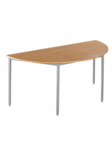Dams Flexi-Table 1600mm Semi Circular with Silver Frame FLXSS