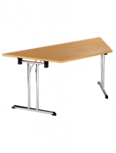 Folding Table Flexi F4 Chrome Folding Legs - 1600mm wide  Trapezoidal