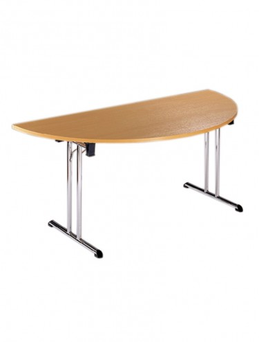 Folding Table Flexi F5 Chrome Folding Legs - 1600mm wide Semi-Circle