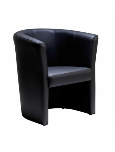 LON50001 London Leather Faced Reception Tub Chair