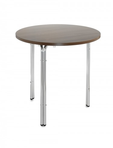 Stacking round bistro table in aluminium N6BT