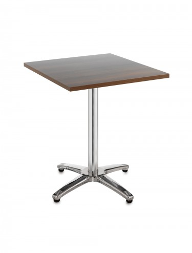 Bistro or cafe square beech table R7BT -  Roma aluminium 700 x 700mm