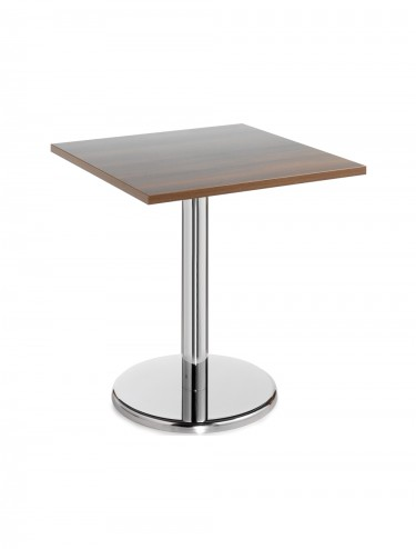 Square Bistro Chrome Leg Table - 700mm high B7DHC