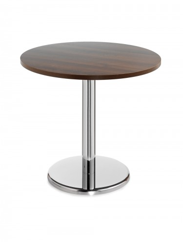 Round Bistro Chrome Leg table - 600mm B6DHC / 800mm B8DHC