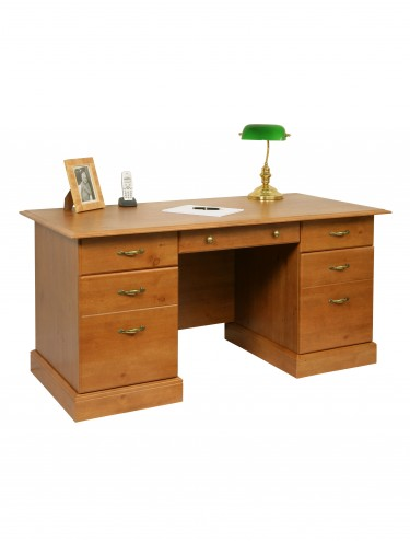 French Gardens Office Desk Double Pedestal in Antique Pine 10418