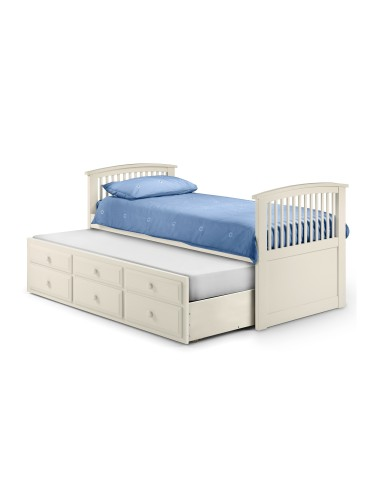 Julian Bowen Hornblower Cabin Bed HOR002 - Stone White