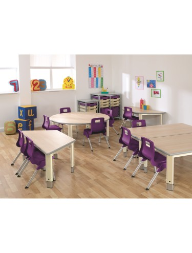 School Adjustable Tables ST-126-PSGY25PR Start Right Pre School Adjustable Tables