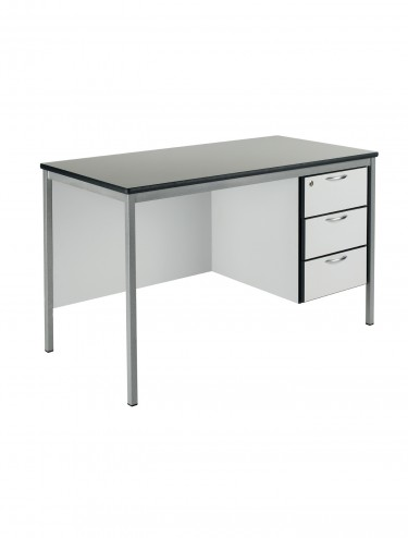 Teachers Desk 1200x600mm Teachers Desk - Fully Welded SQTD3-126-MD