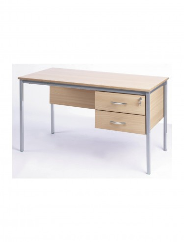 Teachers Desk 1200x600mm Teachers Desk - Fully Welded SQTD2-126-MD